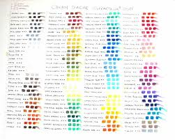 Supracolor Color Chart Supracolor Soft Caran Dache Pencil Color Chart Colored