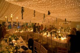outside marquee wedding hire pea light canopy