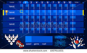 Bowling Score Sheet Template Tv Size Stock Vector 1007611831 ...