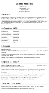 Engineering Resumes Resume Example Resumecom