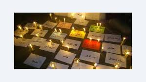 uprising in syria homs and hama is history repeating itself  candles for those killed in the uprising in the cities of syria photo dareen