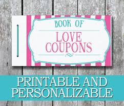 Diy Coupon Book Printable Love Coupon Book Diy Valentine Gift For Her Etsy