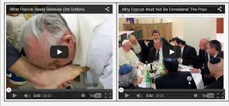 Image result for Photo of two popes in heresy