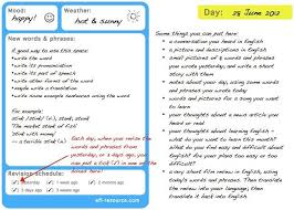 Notes For Using My Vocabulary Diary Template Esl Pinterest