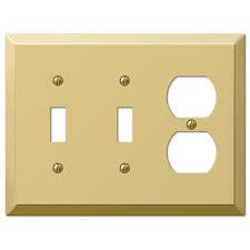 century 2 toggle 1 duplex wall plate polished brass