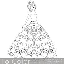 Small Picture Mandala Princess Coloring Pages for Adults Girl Coloring Page