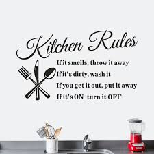 Us 209 Kitchen Rules Restaurant Plane Wall Sticker Decal Mural Diy Hint Warning Home Decor Naklejki Dekoracyjne In Wall Stickers From Home Garden