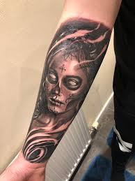 Day Of The Dead By Oscar At Rock N Roll Tattoo In Glasgow Tattoos