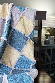 a rag quilt dd on a chair