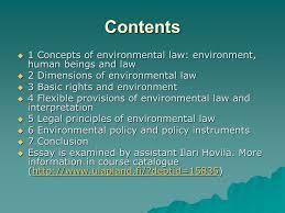 environmental law general approach prof kai kokko acirc copy ppt contents iuml129micro 1 concepts of environmental law environment human beings and law iuml129micro 2