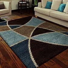 fabulous brown and blue area rug on com orian rugs geometric divulge multi 5 3 x