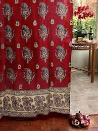 red sheer curtain panel paisley print red sheer curtain panel red paisley sheers saffron marigold