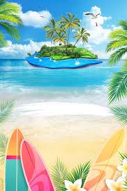 summer beach poster background