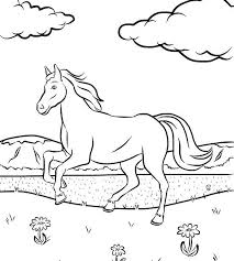 550x611 free horse coloring page