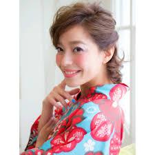 30代大人女子応援浴衣ショート華やかアレンジ Chocolat Umeda