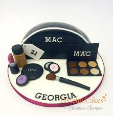 fun novelty make up bag cake with mac make up
