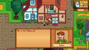 how to give a birthday gift to someone stardew valley