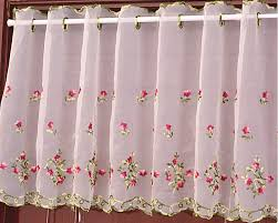 Embroidered Kitchen Curtains
