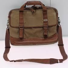vintage l l bean canvas leather messenger bag