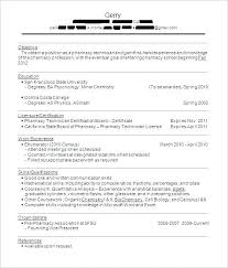 Sample Of Pharmacy Technician Resume S With No Experience Delectable Pharmacy Tech Resume