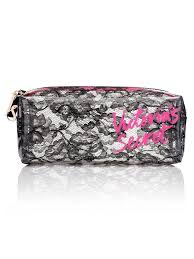 victoria s secret black lace cosmetic bag make up smartphone pouch