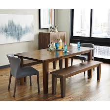 basque honey 82 dining table and bench curran side chair crate and barrel