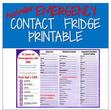 Emergency Contact Printable Australian Emergency Contacts Printable By Sanctified Education