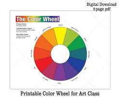 It can be used for enhancing your pupils' reading skills. Printable Color Wheel And Bw Coloring Sheet Kids Art Class Etsy