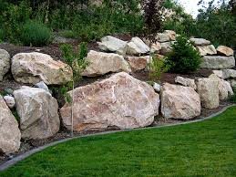 I like the large size of these rocks boulder retaining wall