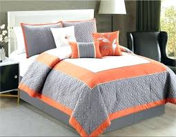 orange and blue bedding sets gray and orange comforter set orange and blue comforter sets gray