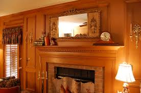 fireplace mantel lighting. enchanting home interior decoration using vintage clock fireplace mantel decors including solid oak wood wall lighting r