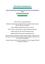 Mkt 310 Week 3 Communication Styles By Manuu39 Issuu