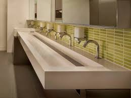 commercial stainless steel trough sinks
