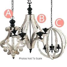 small wood chandelier small wood bead chandelier world market