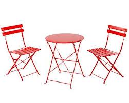 folding patio furniture set. grand patio premium steel bistro set, folding outdoor furniture sets, 3 piece set