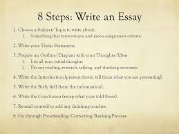 "the power of words john ""in the beginning was the word  8 steps write an essay 1 choose a subject topic to write about"