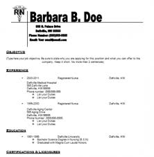 Free Resume Template For Registered Nurse Workplace Pinterest