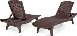outdoor chaise lounge chairs. Keter 2pc Rattan Outdoor Chaise Lounge Chairs