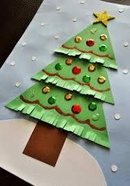 Kinder Bastelidee Ein Papier Tannenbaum Mit Fransen