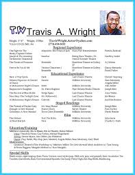 Casting Resume Sample Best Of Acting Resume Format Igniteresumes