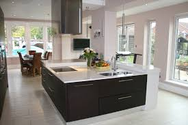 Square Kitchen Large Contemporary Square Kitchen Island Built To Incorporate A