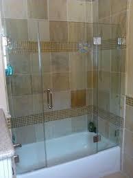 frameless tub enclosure