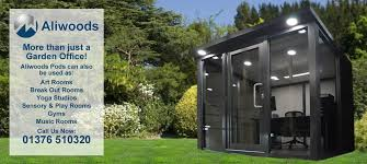 Image Metal Garden Modern Contemporary Garden Rooms From Aliwoods Pods In The Uk The Hathor Legacy Aliwoods Garden Office Pods Other Uses