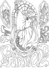 Small Picture Disney Villains Coloring Page Throughout Evil Queen Pages