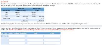 Solved Question 6 Stine Company Uses A Job Order Cost Sys