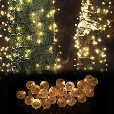 30LED <b>Ball String Lights</b> Solar Garden String Fairy Light <b>Christmas</b> ...