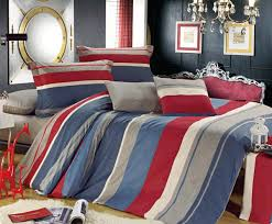 4Pcs Cotton Grey Blue Red Duvet Cover With Pillow Case Bedding Set ... & 4Pcs Cotton Grey Blue Red Duvet Cover With Pillow Case Bedding Set Quilt  Cover Double King Adamdwight.com