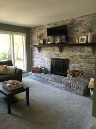 brick wall fireplace luxury before after amanda s cozy cohesive living room