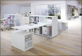 office desk in living room. Cheap Office Wall Shelf Furniture Design By Modern White Wooden Desk Which Is Having Book In Living Room