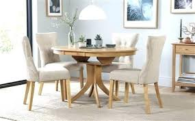 small dining room tables white round table and 4 chairs extending set oatmeal